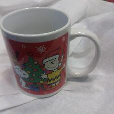 Peanuts Snoopy Christmas Holiday Coffee Mug 2011 Charlie Brown Red Ho Ho Ho!