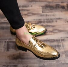 Mens Patent Leather Casual Dress Formal Office Brogue Oxfords Wedding Shoes New