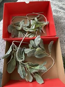 Fake Faux Greenery Lambs Ear Branches