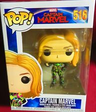 """NEW POP MARVEL FROM """"CAPTAIN MARVEL""""  CAPTAIN MARVEL IN A NEON SUIT, #516"""