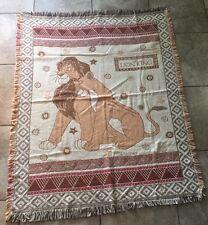 """Vintage Disney The Lion King Simba & Nala Beacon Throw Blanket USA Made 55""""x43"""""""