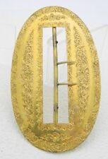 Art Nouveau Brass Ornate Embossed Filigree Floral Belt Buckle
