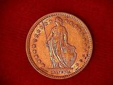 1911 B Swiss 1 Franc .835 Silver Content