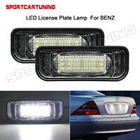 Weiß LED Kennzeichenleuchten Lichter Für Mercedes-Benz W220 S-Klasse A2208200356