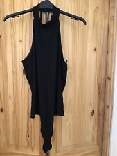 Black Halterneck and Thong Bodysuit by ASOS. Size 12.