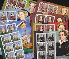 Gibraltar 2009 Mint MNH 8 Minisheets Sheetlets Wives King Henry VIII Anne Jane
