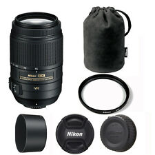 Nikon 55-300mm VR DX ED AF-S Lens + 58mm UV Filter for D3200 D3300 D5300 D7100