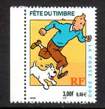 TINTIN - FÊTE du timbre 2000. Issu de carnet  Y&T n°3303a cote 1,50€