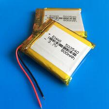 2 pcs 800mAh 3.7V LiPo Battery 503540 Cells for MP3 MP4 PSP GPS Speaker Recorder