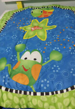 BRIGHT STARS PLAY MAT BABY MAT FROG AND TURTLE GREEN MAT! 70CM LONG 55CM WIDE