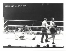 MAX BAER KO's MAX SCHMELING 8X10 PHOTO BOXING PICTURE