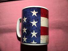 "New listing Vintage Warren Kimble 1997 ""Colonial"" American Flag Large Mug - Mint"
