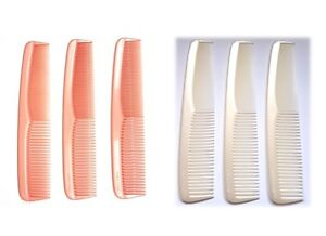 """Dress Comb Solid Pearl Effect Dressing Comb Flexible Duralon 7.5"""" (19cm) Lovely"""