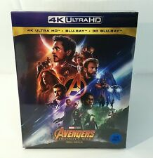 AVENGERS INFINITY WAR [4K UHD + 3D + 2D] Blu-ray STEELBOOK [KOREA] FULLSLIP /OOP