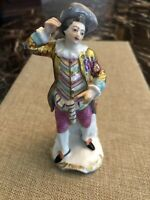 Antique Meissen Porcelain Male Gentlemen Figurine