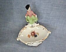 """VINTAGE 3 14"""" HIGH ERPHILA GUILDED PORCELAIN LADY FIGURINE-HOLY WATER FONT RARE"""