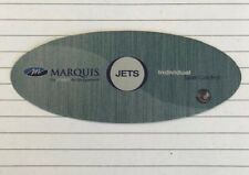 Marquis Spa decal label overlay jets panel hot tub push button sticker aux