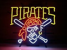 "New Pittsburgh Pirates Neon Light Sign 24""x20"" Beer Bar Real Glass Lamp Poster"