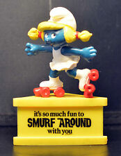 Smurf-A-Gram On Stand IT'S SO MUCH FUN TO SMURF AROUND WITH YOU Roller Skates