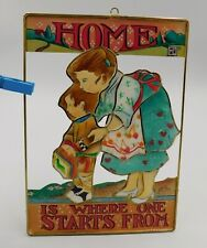Vintage Mary Engelbreit Me Home Is Where One Starts From 1998 Wall Hanging
