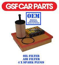 Service Kit Oil Air Filters & Spark Plug Sparking Peugeot 206 Sw 1.4 1.1