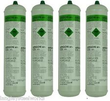 DISPOSABLE ARGON/CO2 GAS BOTTLES FOR MIG WELDING x 4 cylinders