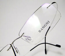 Rimless β-Titanium Eyeglass Frame Men Ultra light Flexible Screwless Glasses RX