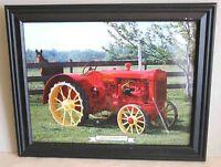 "Framed 1929 Cockshutt Tractor Calendar Print w Glass 15x12"" info back FREE SH"