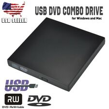USB 2.0 External CD DVD RW Burner Writer Reader Player Drive for Windows Mac NEW
