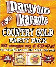NEW Party Tyme Karaoke - Country Gold Party Pack (32+32-song Party Pack) [4 CD]