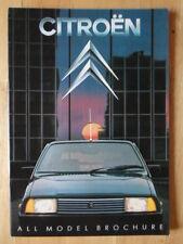 CITROEN 2CV, DYANE 6, VISA, GSA, CX Ranges 1982 Prestige Brochure - Charleston