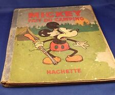 BD MICKEY 1933 FAIT DU CAMPING N°5 ,hachette,disney,bande dessinée