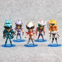 5pcs Anime Saint Seiya PVC Action Figure Toys Model Figurine Doll Kid Cool Gift