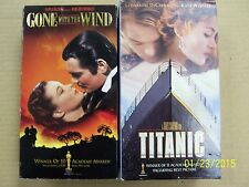 2 Best Picture Winners VHS movies: Gone With The Wind, Titanic