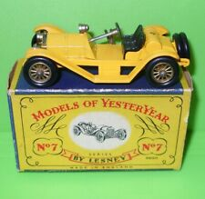 Matchbox - Yesteryear / Y7 1913 Mercer Raceabout in Yellow / Boxed