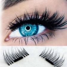 4Pcs/1Pair 3D Magnetic False Eyelashes Thick Long Fake Eye Lashes Extension New