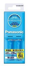 Panasonic Eneloop Light Battery - K-KJ52LCC20 AA×2 Charger Set Rechargeable