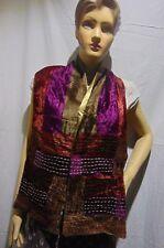 purple brown Velvet Scarf Shawl Wrap Burnout Silk Winter Warm Infinity