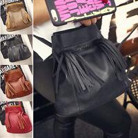 Lady Tassel Handbag Shoulder Tote Purse Cross Body Leather Women Messenger Bag