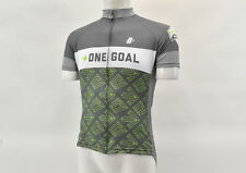 Hincapie Men's 2XL One Goal Survivor Short Sleeve Jersey Grey/Green