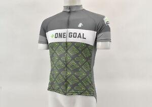 Hincapie Men's 2XL One Goal Survivor Short Sleeve Jersey Grey/Green