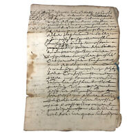 1647 European Paper Handwritten Manuscript Codex - Legal Document Old Rare Doc