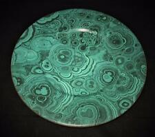"""Christian Dior GAUDRON MALACHITE Green Marble Charger 12 3/4"""" Across Chop Plate"""