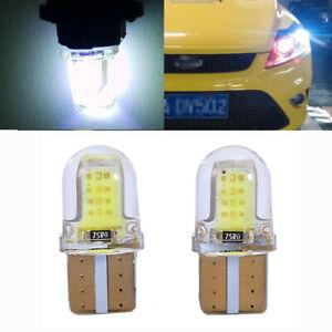 2x T10 194 168 W5W COB LED Car License Plate Dome Map Light Bulb White ac