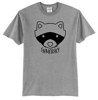 Moonrise Kingdom Raccoon Shakusky T-Shirt Short Sleeve Wes Anderson Movies Cool