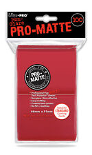 1 Pack 100 ct.Ultra Pro-Matte RED CCG Deck Protector Gaming Card Sleeves