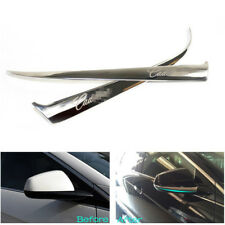 Rearview Side Door Mirror Cover Trim Stainless 2PCS For Cadillac SRX 2010-2016