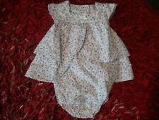 Robe body bébé fille blanche à fleurs TAILLE 18 mois /81 cm  NEUF Grain de blé