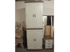 RUTLAND PAINTED 4 DOOR WARDROBE HANDMADE ROUGH SAWN BESPOKE COLOUR F&B OFF WHITE