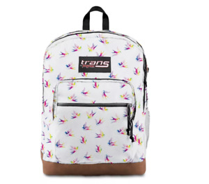 """Trans by JanSport 17"""" Super Cool Backpack - Rainbow Birds - New w/ Tags"""